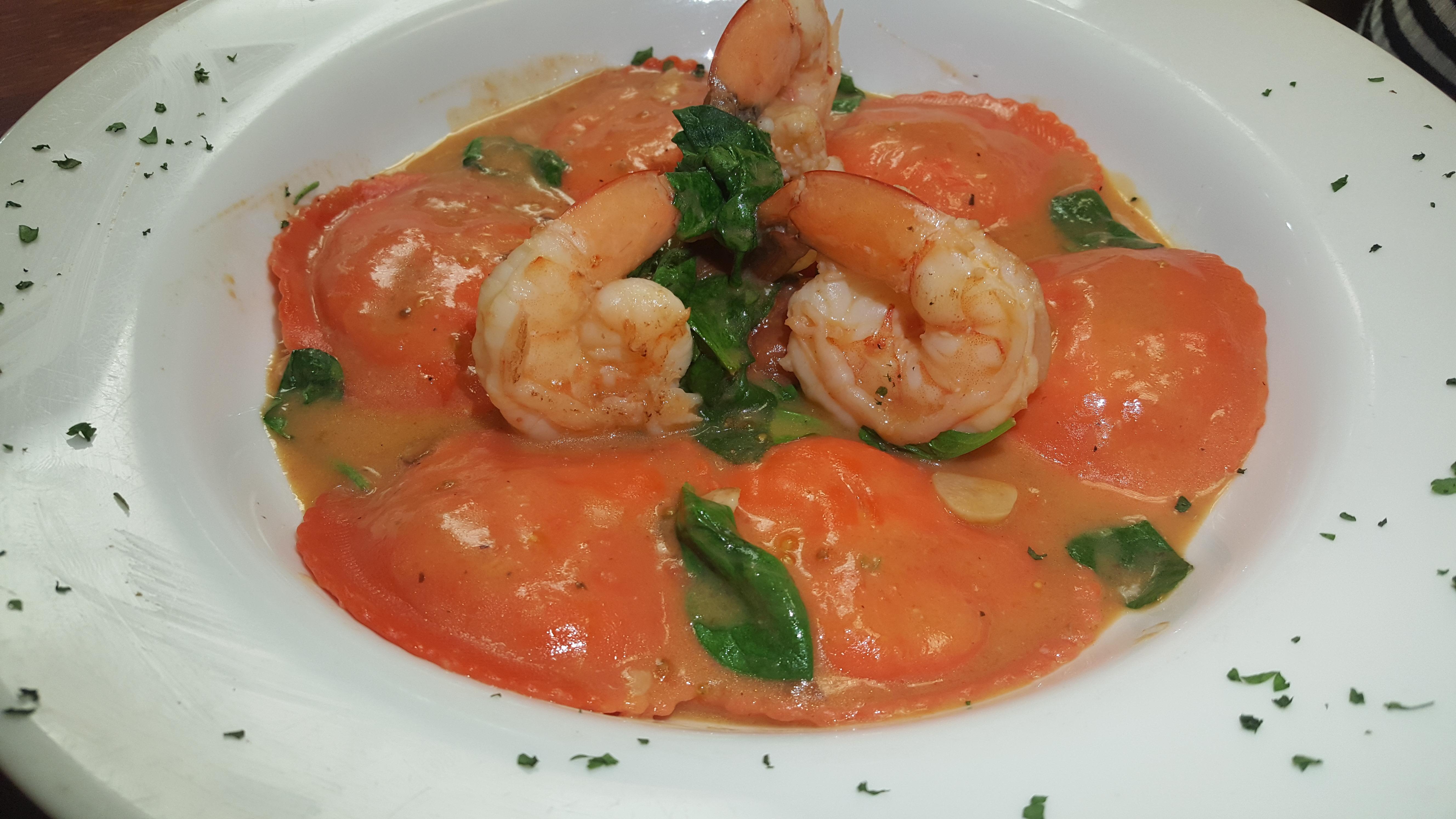 This weeks' homemade pasta special: Lobster Ravioli