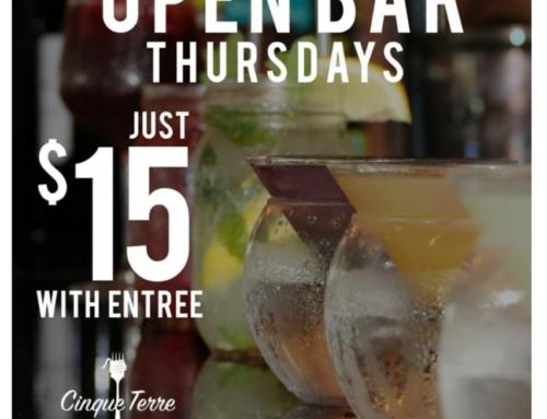 Open Bar at Cinque Terre Restaurant in Davie, Ft. Lauderdale